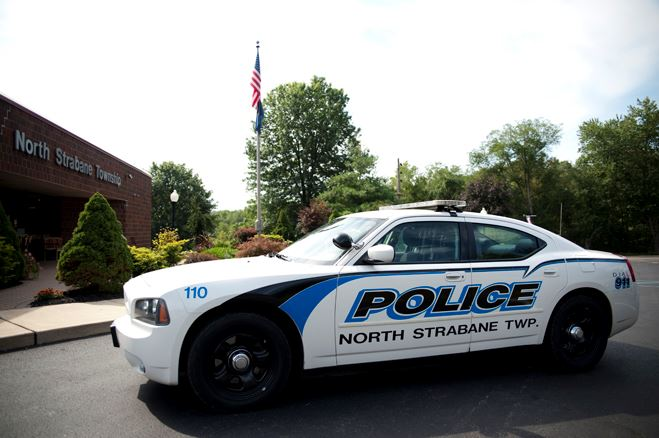 North Strabane Police Cruiser in Front of Township Building