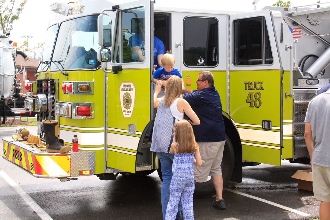Kids Hanging Out at Fire Truck 48