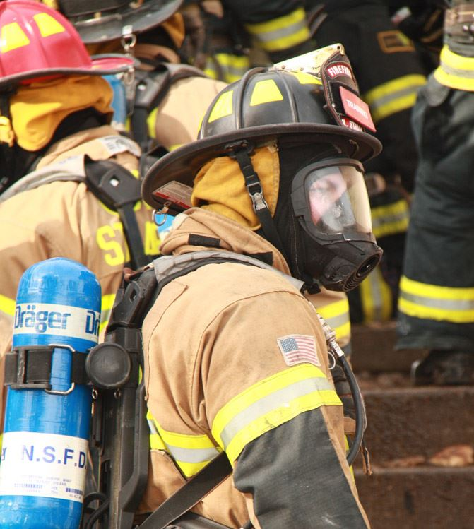 Profile View of a Firefighter